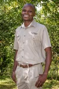 Employee of the year at Victoria Falls Safari Lodge, Zimbabwe