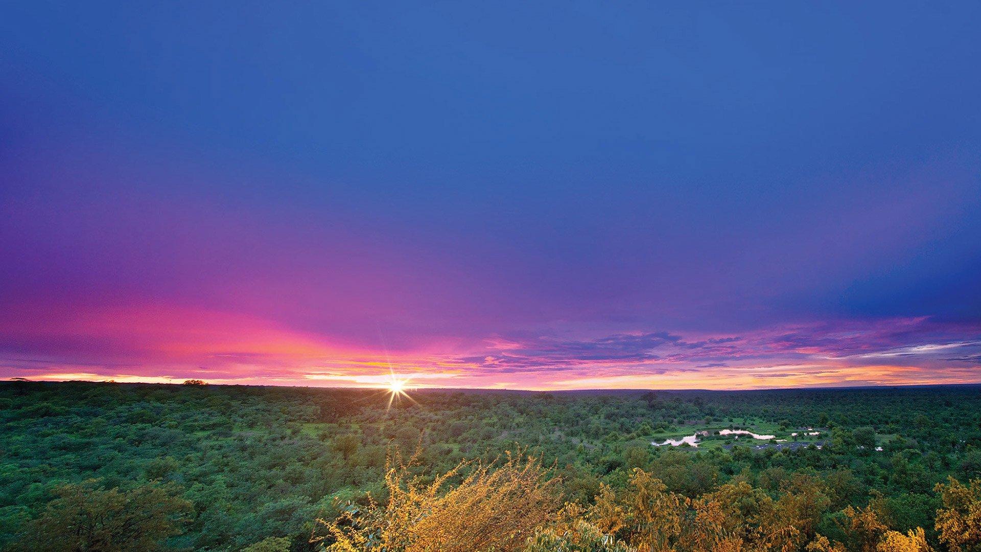Victoria Falls Safari Hotel Waterhole Sunset