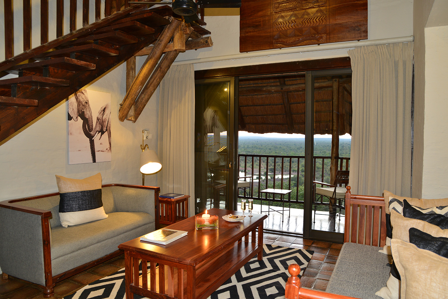 Victoria Falls Safari Lodge Waterhole Facing Suite Lounge