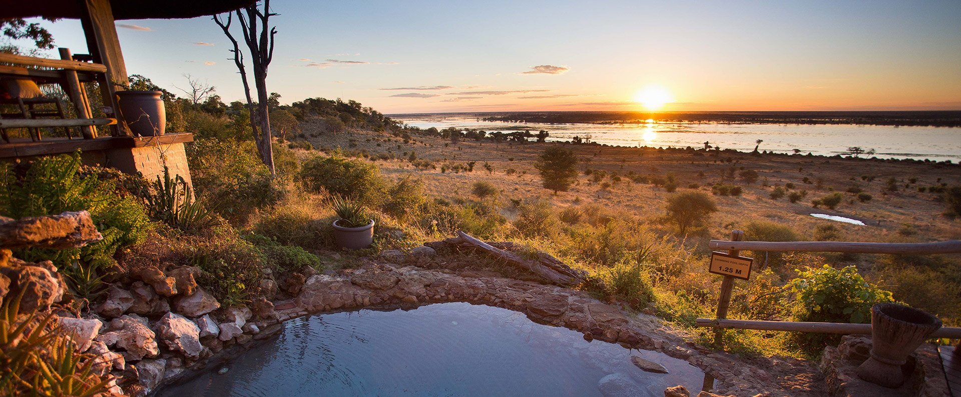 Ngoma Safari Lodge Chobe Sunset Pool